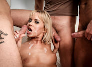 CUMSHOTS- Oral Fixation - 3 Dicks And A Chick