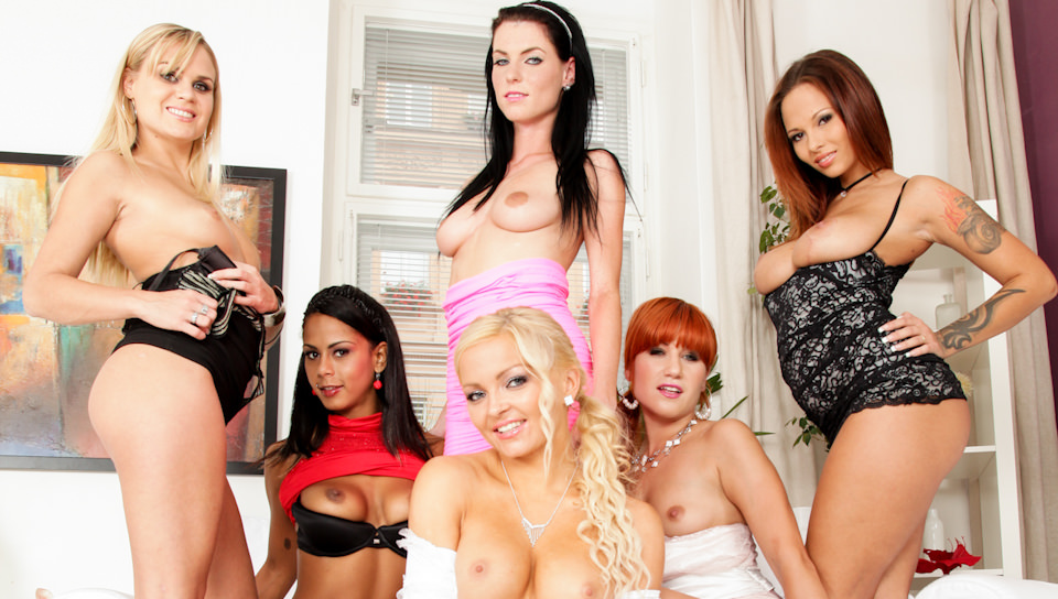 Jenna Haze and Her 9 Girl Lesbian Orgy - Free