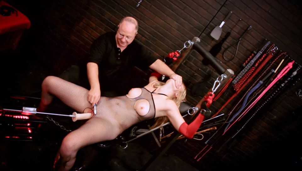 Chained on Hardcore sex machine