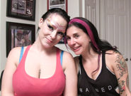 Planet Areola BTS – Joanna Angel & Jessie Lee & Sheridan Love