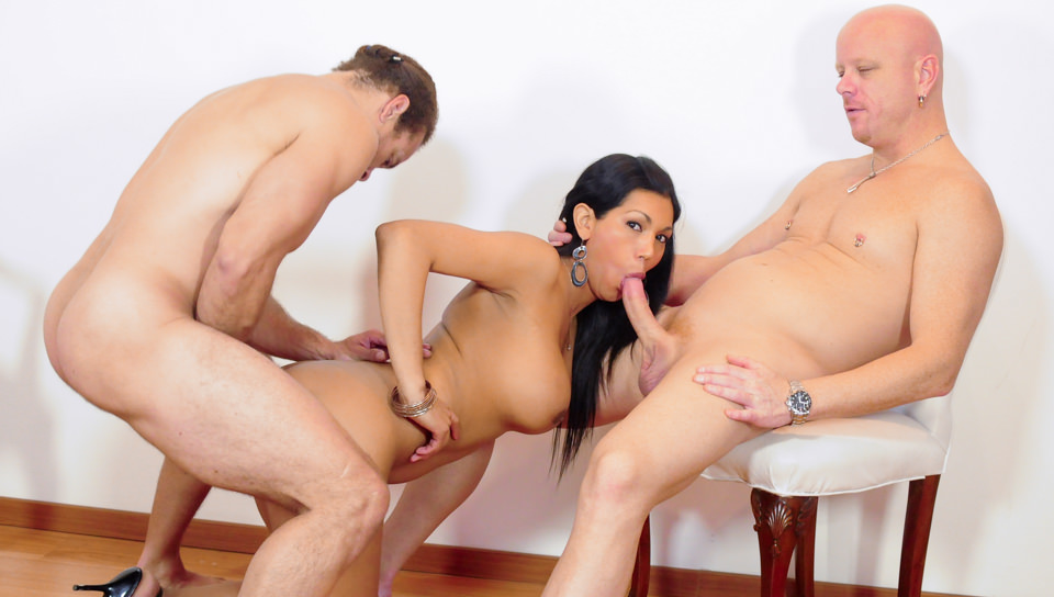 from Anthony hot tranny double team