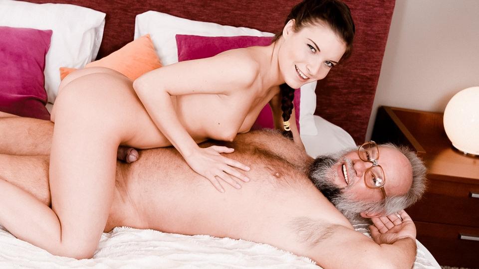 Youngling Anita Keeps Grandpa in Shape