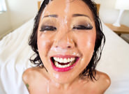 Saya s nice ejaculate portrait jonni darkko saya song. Shirtless in stockings and red pumps, Asian dirty talker Saya Song butters us up for a lewd, sloppy sucking job. The cock-starved cutie crams Jonni Darkko's pulsating prick down her throat, spiritedly tonguing his swollen ball sack as slimy spit gushes over her cheeks. Plastered in pre-cumshot and slobber, Saya makes extraordinary attempts to swallow his entire shaft, trickling snot as he thrusts into her throat. At the climax, Jonni paints a portrait of cumshot on Saya's face; she smiles adorably and says, 'Do I look charming like this'