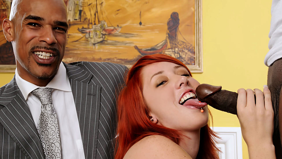 What, pale redhead interracial porn exact